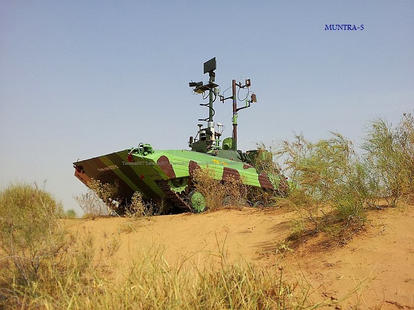 India's un-manned Ground vehicle (UGV) Muntra-S (Meant for surveillance)